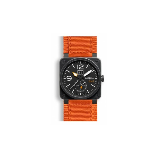 Horloge Bell & Ross BR 03-51 Carbon GMT BR0351-GMT-CA