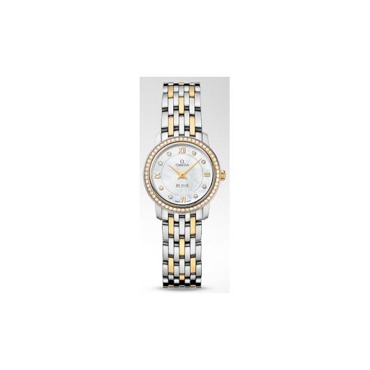 Horloge Omega De Ville Prestige Quartz 424.25.24.60.55.001 24.40mm