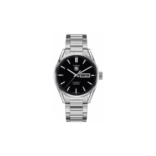 Horloge Tag Heuer Carrera WAR201A.BA0723 Calibre 5 Day-Date Automatic Watch 41 mm
