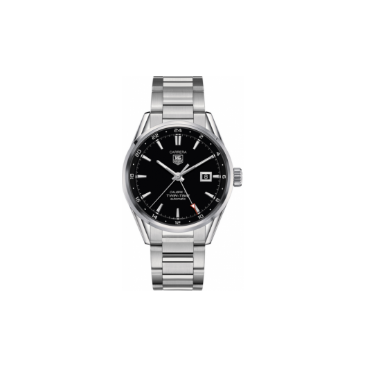Horloge Tag Heuer Carrera WAR2010.BA0723 Calibre 7 Twin Time  Automatic Watch 41 mm