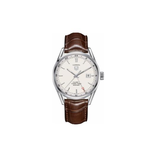 Horloge Tag Heuer Carrera WAR2011.FC6291 Calibre 7 Twin Time  Automatic Watch 41 mm