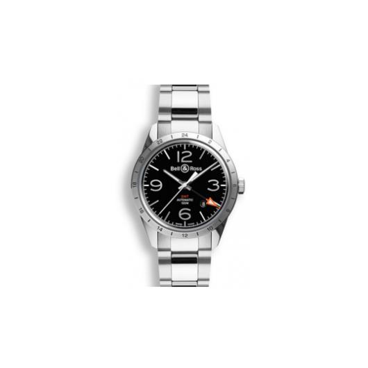 Horloge Bell & Ross BR 123 GMT Steel BRV123-BL-GMT/SST