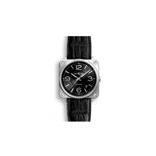 Horloge Bell & Ross BR S Officer Black BRS92-BL-ST