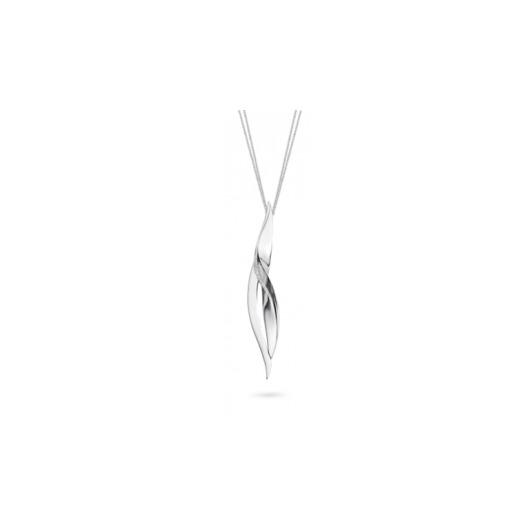 Juweel Outlet Hanger en ketting witgoud 18k briljanten 15/36