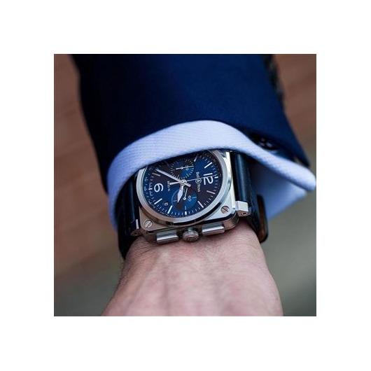 Horloge Bell & Ross BR 03-94 Blue Steel BR0394-BLU-ST/SCA