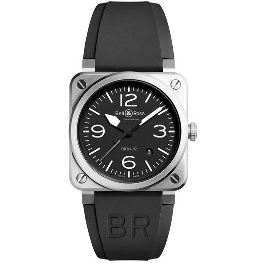Horloge Bell & Ross BR 03-92 Black Steel BR0392-BLC-ST