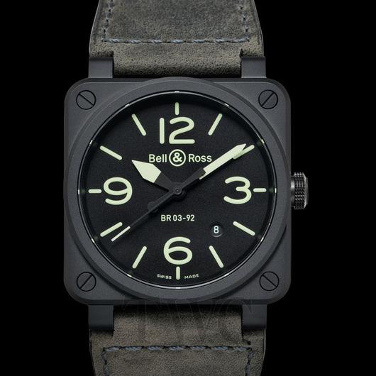 Horloge Bell & Ross BR 03-92 Nightlum BR0392-BL3-CE/SCA