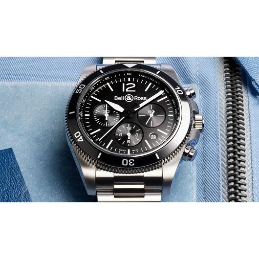 Horloge Bell & Ross BR V3-94 Black Steel BRV394-BL-ST/SST