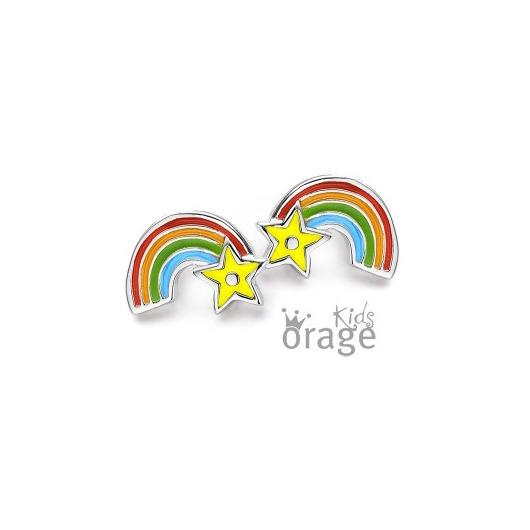 Juweel Orage Kids - Oorstekers K1897 / K1610 - REGENBOOG