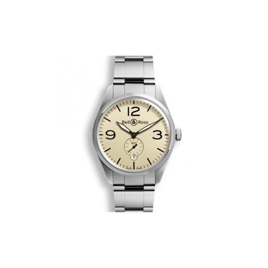 Horloge Bell & Ross BR 123 Orginal beige BRV123-BEI-ST/SST