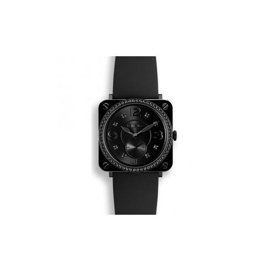 Horloge Bell & Ross BR S Ceramic Phantom Diamond BRS-BLC-PH-LGD/SRB