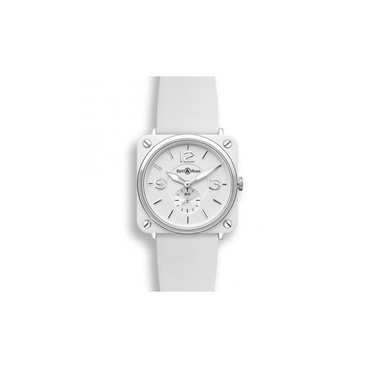 Horloge Bell & Ross BR S White Ceramic BRS-WH-CES/SRB