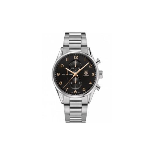 Horloge Tag Heuer Carrera Calibre 1887 automatic chronograph 43 mm CAR2014.BA0799