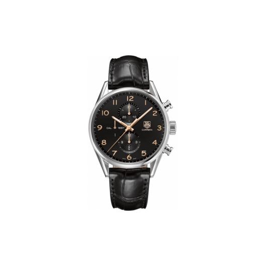 Horloge Tag Heuer Carrera Calibre 1887 automatic chronograph 43 mm CAR2014.FC6235