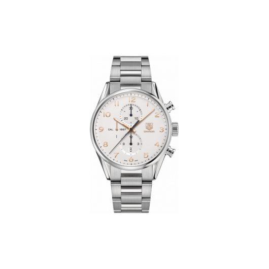 Horloge Tag Heuer Carrera Calibre 1887 automatic chronograph 43mm CAR2012.BA0799