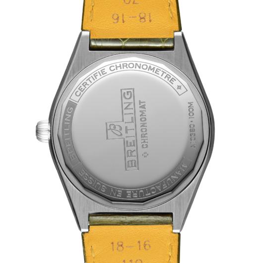 Horloge Breitling Chronomat automatic 36 green South Sea A10380611L1P1