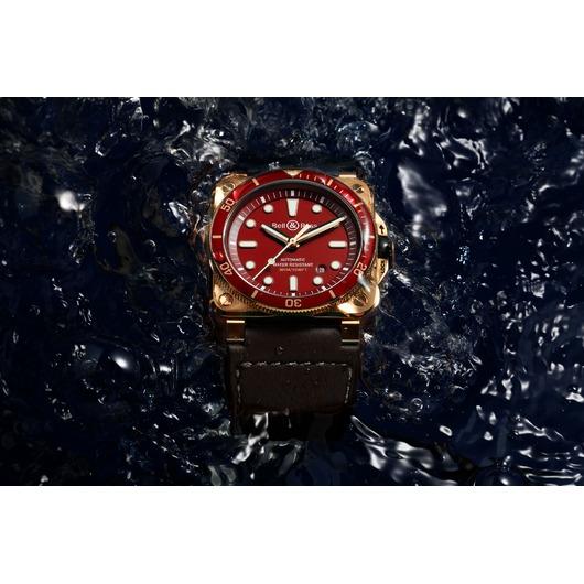 Horloge Bell & Ross BR 03-92 Diver Red Bronze Limited Edition BR0392-D-R-BR/SCA
