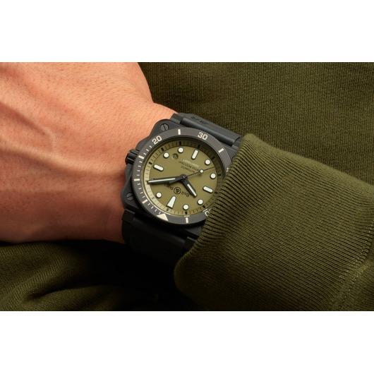 Horloge Bell & Ross BR03-92 Diver Military BR0392-D-KA-CE/SRB