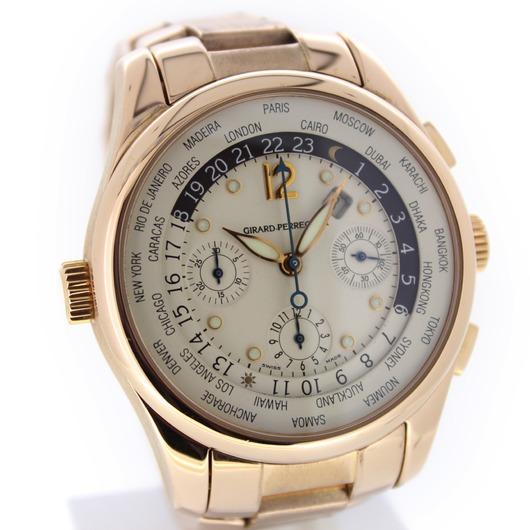 Horloge Girard Perregaux world time chronographe Ww.tc 49800-0-52-1041 '54233/430-TWDH'