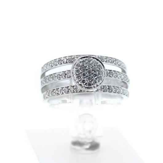 Juweel Ring Witgoud 18 karaat Briljant '6039-CV-TWDH'
