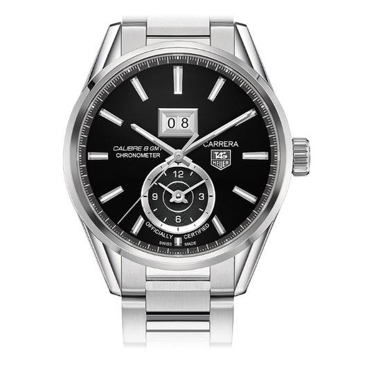 Horloge Tag Heuer Carrera WAR5010.BA0723 Calibre 8 GMT and Grande Date Automatic watch 41 mm