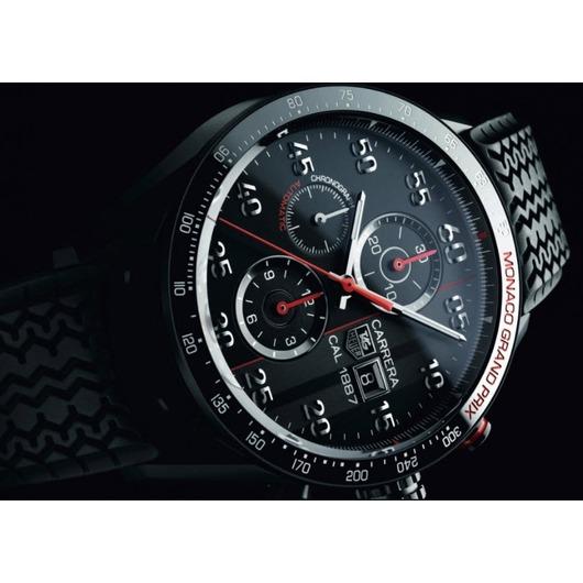 Horloge Tag Heuer Carrera  Calibre 1887  Automatic Chronograph Monaco Grand prix  43 mm CAR2A83.FT6033