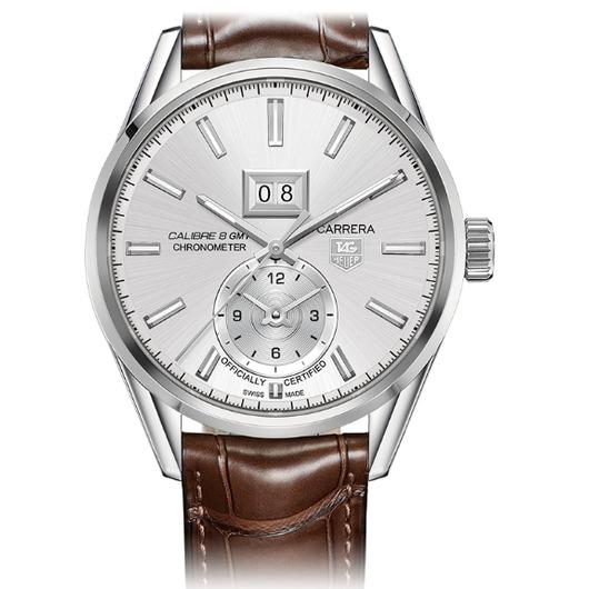 Horloge Tag Heuer Carrera WAR5011.FC6291 Calibre 8 GMT and Grande Date Automatic watch 41 mm